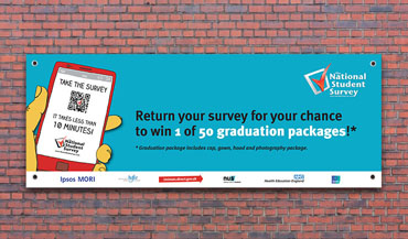 National Student Survey Vinyl Banner.